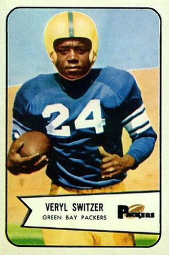 Veryl Switzer - Switzer on a 1954 Bowman football card