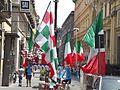 Via S. Brigida, Naples - Italian flags - Euro 2012.jpg