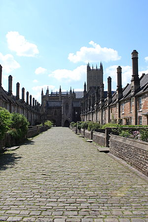 Grade I listed buildings in Mendip - Image: Vicars close, Wells