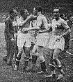 Victoire de l'Italie en finale de Coupe du monde de football 1938, Giuseppe Meazza congratule Silvio Piola.jpg