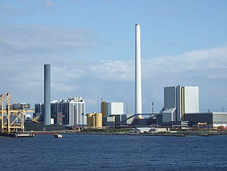 Industrial ecology - View of Kalundborg Eco-industrial Park