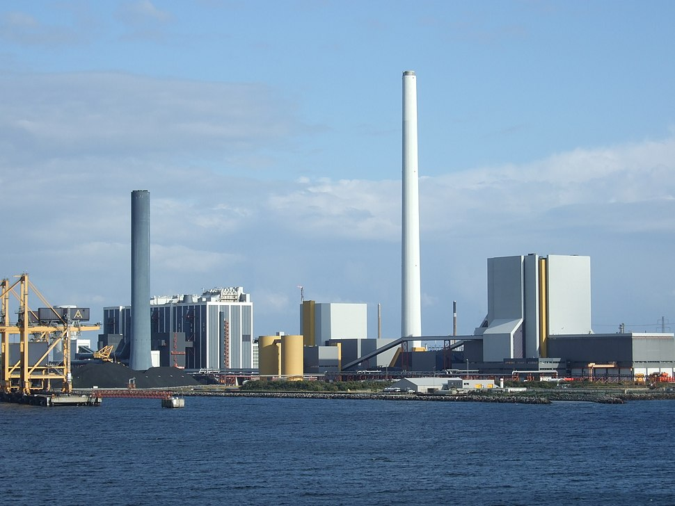View from Asnaes power station Kalundborg Denmark