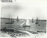 View from the western side of Farm Cove looking north-east toward Fort Denison, Sydney (NSW) (7173832006).jpg