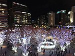 View in front of Hakata Station at night 20181122.jpg