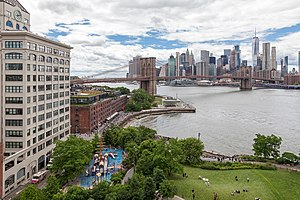 View of Brooklyn Bridge Park from Manhattan Bridge.jpg