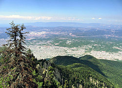 View of Bursa from the hills of Mount Uludag