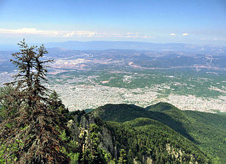Geography of Turkey - View of Bursa from the hills near Mount Uludağ, the ancient Mysian Olympus