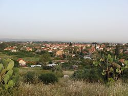 View of Gedera from Tel Qatra