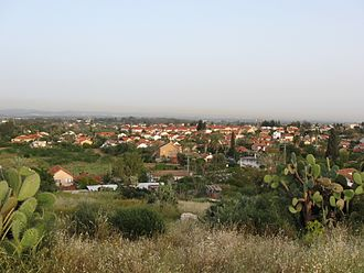 Gedera - View of Gedera from Tel Qatra