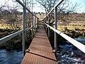 View west across Afon Dwyfor along the Ystum-cegid-ganol footbridge - geograph.org.uk - 1763256.jpg