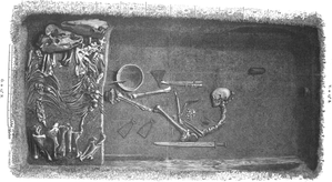 Hjalmar Stolpe - Image: Viking grave Bj 581 in Birka, Sweden by Hjalmar Stolpe in 1889