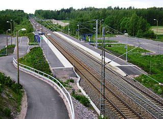 Villähde railway station Railway station in Nastola, Finland