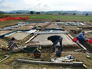 Claternae - Excavating a Roman villa with mosaic flooring at Claternae