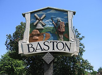 Baston - Image: Village sign detail, Baston, Lincs geograph.org.uk 453235