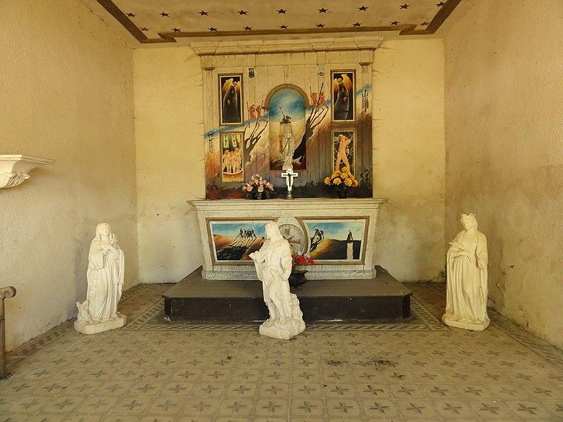 Villers-lès-Mangiennes (Meuse) chapelle Saillet intérieur