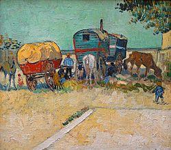 Vincent van Gogh: Encampment of Gypsies with Caravans