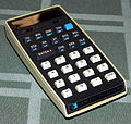 Vintage Hewlett-Packard Model 21 Electronic Pocket Calculator, Made in the U.S.A., A Scaled-Down HP 25, Circa 1975 (11574422413).jpg