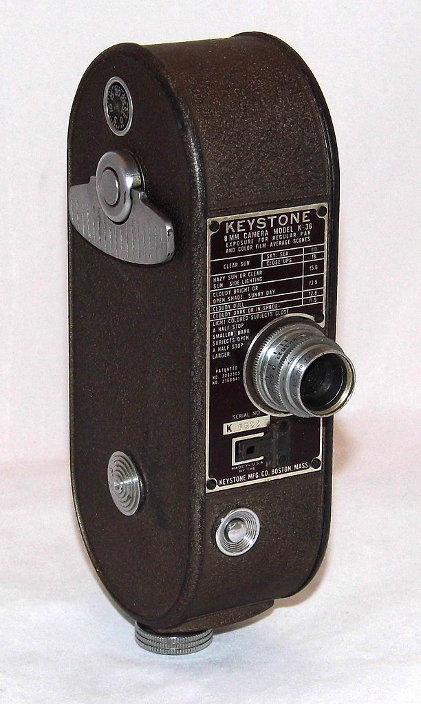 File:Vintage Keystone 8mm Home Movie Camera, Model K-36 ...