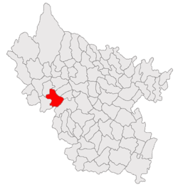 Location of Viperești