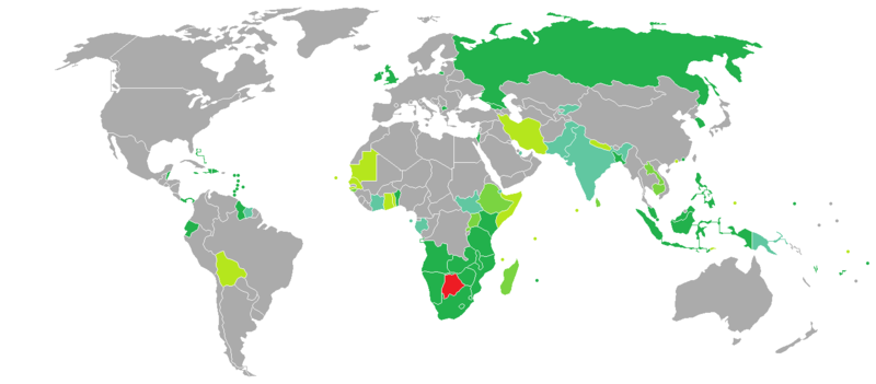 Visa requirements for botswana citizens wikipedia visa requirements mapedit botswana gumiabroncs Image collections