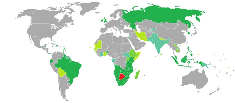 Visa Requirements For Botswana Citizens Wikipedia