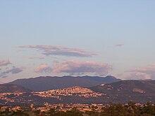 Vista di Tivoli da Guidonia Montecelio