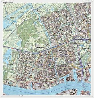 Vlaardingen - Dutch topographic map of Vlaardingen (city), Sept. 2014