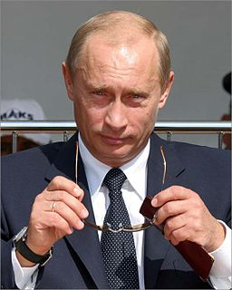 Vladimir Putin without sunnies