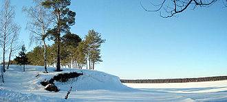 Rybinsk Reservoir - The lake in winter