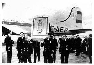 Mexico City International Airport - Inauguration of Iberia's Mexico City-Madrid route, March 1, 1950