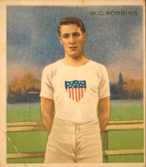 William Robbins (athlete) - Image: W.C. Robbins 1910 Mecca card front