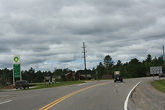 Florence (CDP), Wisconsin - Image: WIS70WIS101North And East Terminus US2US141Florence