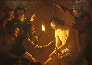 Mocking of Jesus - Gerrit van Honthorst, The Mocking of Christ, c. 1617