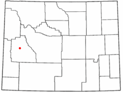 Location of Daniel, Wyoming