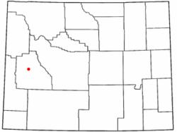 Lage von Daniel, Wyoming