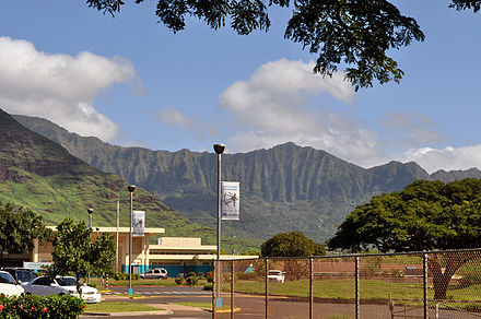 Waianae High School, located in Wai`anae, houses an educational community media center. Waianae High School (5888481033).jpg