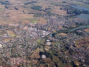 Waiuku - Waiuku from the air
