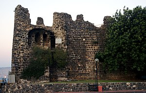 Elinand - Ruins of the crusaders' castle at Tiberias, the seat of the Principality of Galilee