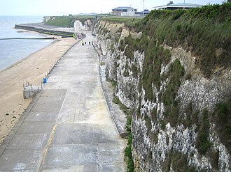 Cliftonville - Image: Walpole Bay cliffs, Cliftonville