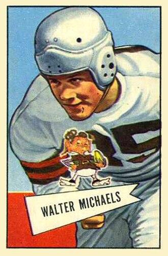 Walt Michaels - Michaels on a 1952 Bowman football card