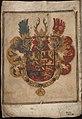 Wapen van Willem van Oranje-Nassau - Coat of arms of William I, Prince of Orange - Wapenboek Nassau-Vianden - KB 1900 A 016.jpg