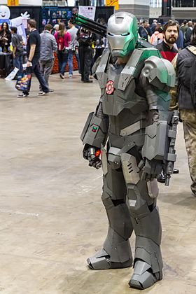 Cosplay de War Machine.