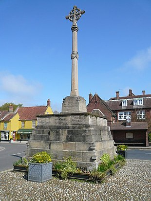 The war memorial in Holt's market place