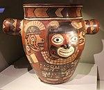 Wari painted jar Peru (27754879415).jpg