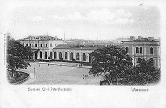 Warszawa Wileńska station - Saint Petersburg rail terminal in 19th century