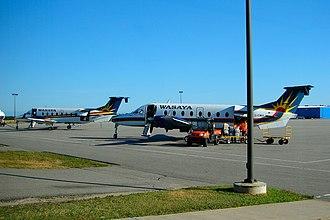 Wasaya Airways - 2 Beechcraft 1900D's of Wasaya Airways at Sioux Lookout Airport