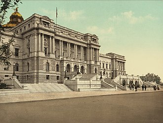 Library of Congress - The West façade of the Library of Congress in 1898