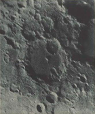 Albategnius (crater) - Albategnius crater in the Lunar Atlas (1898) by Ladislaus Weinek. North is upside down