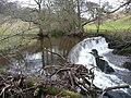 Weir on Raven Beck, Kirkoswald - geograph.org.uk - 1146729.jpg