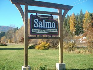 Salmo, British Columbia - Salmo's welcome sign